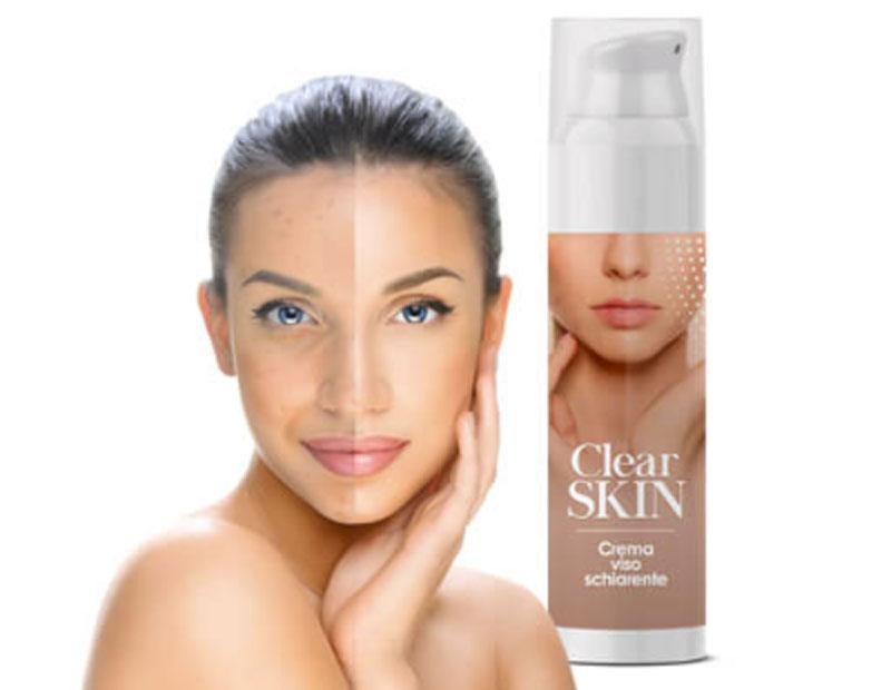 clear skin crema schiarente viso